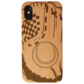 Baseball Engraved Wood IPhone® Case - Glove