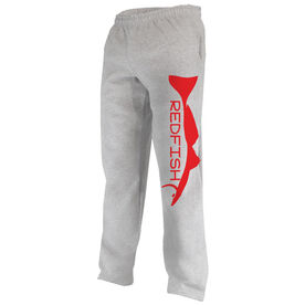 Fly Fishing Fleece Sweatpants Redfish Silhouette