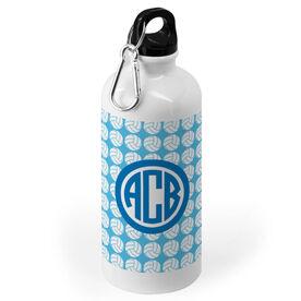 Volleyball 20 oz. Stainless Steel Water Bottle - Volleyball Pattern Monogram
