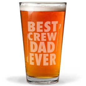 16 oz. Beer Pint Glass Best Crew Dad Ever