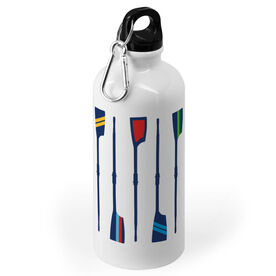 Crew 20 oz. Stainless Steel Water Bottle - Oar Pattern Vertical