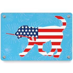 Crew Metal Wall Art Panel - Patriotic Cody The Crew Dog