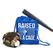 Raised In A Cage Baseball Sport Pack Cinch Sack