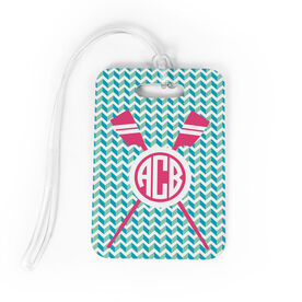 Crew Bag/Luggage Tag - Monogrammed Crossed Oars