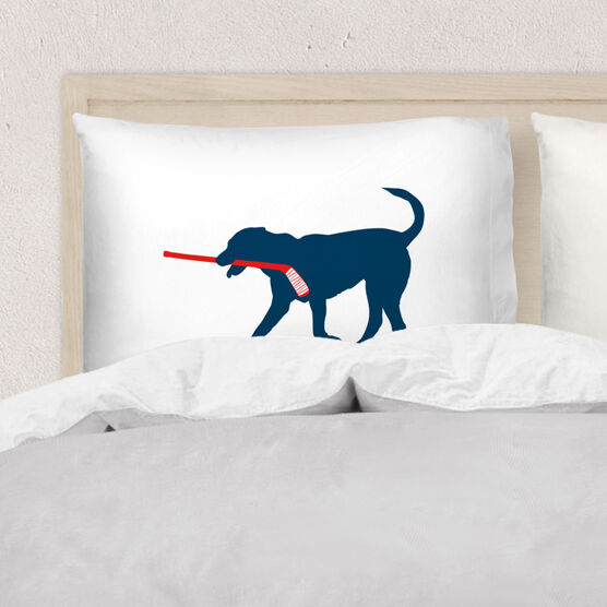 Hockey Pillowcase - Howe The Hockey Dog