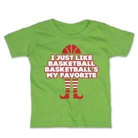 Basketball Toddler Short Sleeve Tee - Basketball's My Favorite