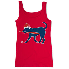Softball Women's Athletic Tank Top Christmas Dog