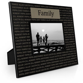 Personalized Engraved Picture Frame - Custom Text Repeat