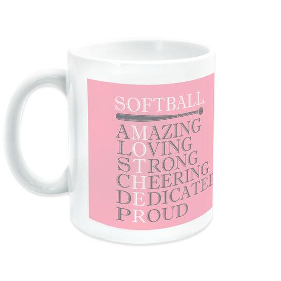Softball Coffee Mug - Mother Words