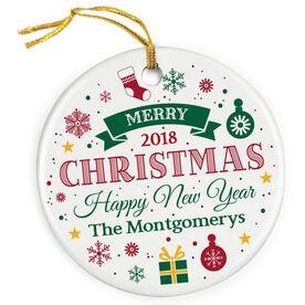 Porcelain Ornament - Christmas And Happy New Year