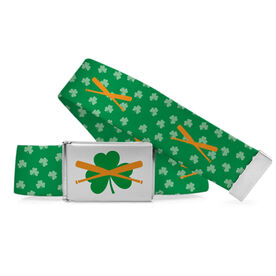 Baseball Lifestyle Belt Bats and Shamrocks