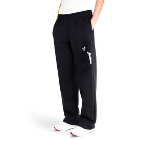 Basketball Fleece Sweatpants - Basketball Silhouette Girl