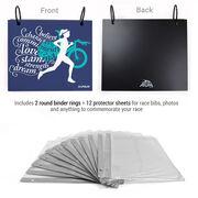 BibFOLIO® Race Bib Album - Believe Triathlon Girl