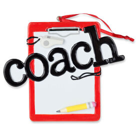 General Sports Ornament - Coach Clipboard