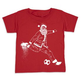 Soccer Toddler Short Sleeve Tee - Santa Player