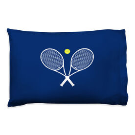 Tennis Pillowcase - Crossed Rackets