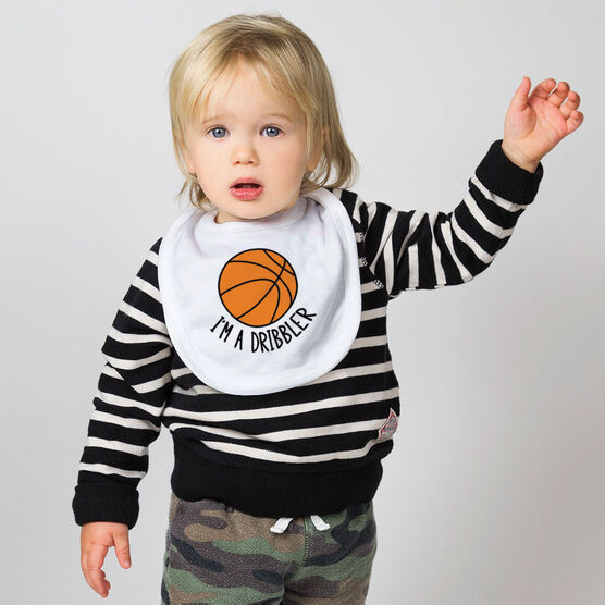 Basketball Baby Bib - I'm A Dribbler