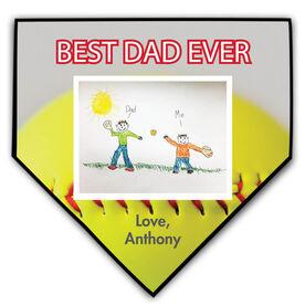 Softball Home Plate Plaque Your Artwork With Softball Background