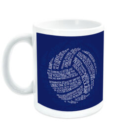 Volleyball Coffee Mug Words