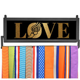 AthletesWALL Medal Display - Track Love Gold Glitter