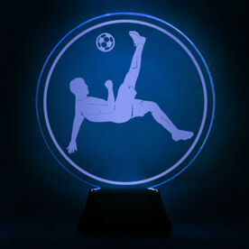 Soccer Acrylic LED Lamp Bicycle Kick