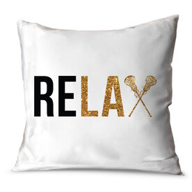 Girls Lacrosse Throw Pillow Relax