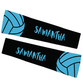 Volleyball Printed Arm Sleeves - Volleyball with Text