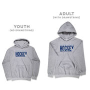 Hockey Hooded Sweatshirt - I'd Rather Be Playing Hockey