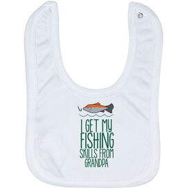Fly Fishing Baby Bib - I Get My Skills From