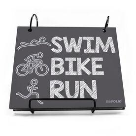 BibFOLIO® Race Bib Album - Swim.Bike.Run