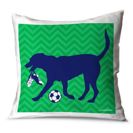 Soccer Throw Pillow Sasha The Soccer Dog