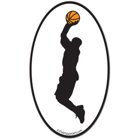 Basketball Guy Oval Car Magnet (Black)