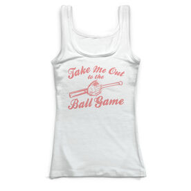 Baseball Vintage Fitted Tank Top - Take Me Out To The Ball Game