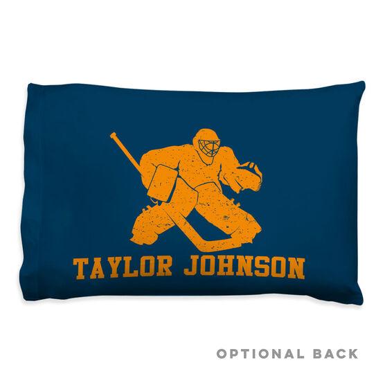 Hockey Pillowcase - Goalie Player
