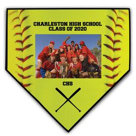 Softball Home Plate Plaque - Horizontal Photo