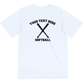 Softball Short Sleeve Performance Tee - Custom Softball