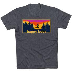 Running Short Sleeve T-Shirt - Happy Hour