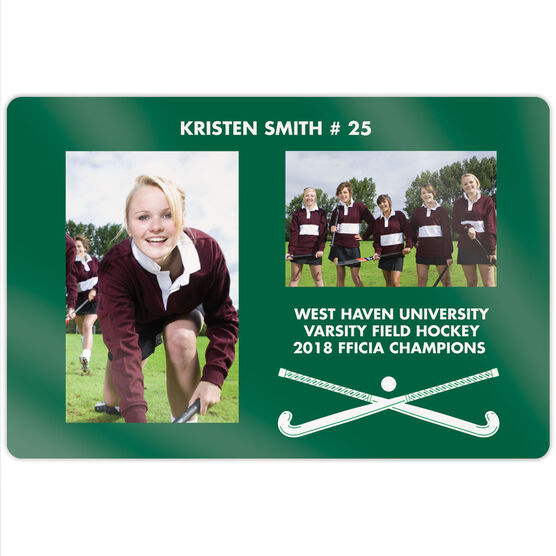 "Field Hockey 18"" X 12"" Aluminum Room Sign - Player and Team Photo"