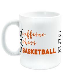 Basketball Coffee Mug - Caffeine, Chaos and Basketball