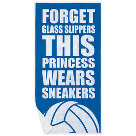 Volleyball Premium Beach Towel - Forget Glass Slippers This Princess Wears Sneakers