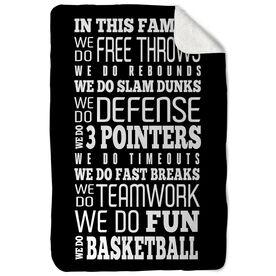 Basketball Sherpa Fleece Blanket - We Do Basketball