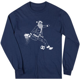 Soccer Long Sleeve Tee - Santa Player
