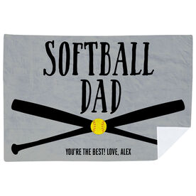 Softball Premium Blanket - Softball Dad