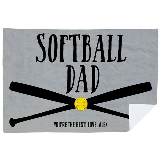 Softball Premium Blanket - Softball Dad