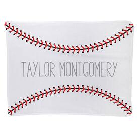 Baseball Baby Blanket - Baseball Stitches
