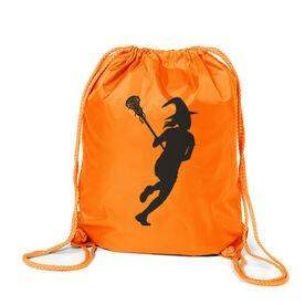 Girls Lacrosse Sport Pack Cinch Sack - Lax Witch
