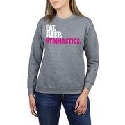 Gymnastics Crew Neck Sweatshirt - Eat Sleep Gymnastics