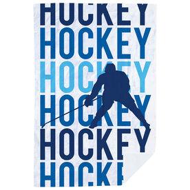 Hockey Premium Blanket - Hockey Fade