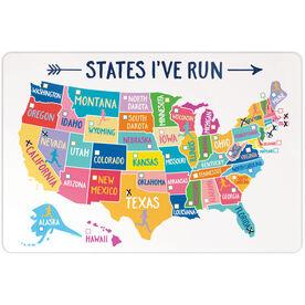"Running 18"" X 12"" Wall Art - States I've Run (Dry Erase)"