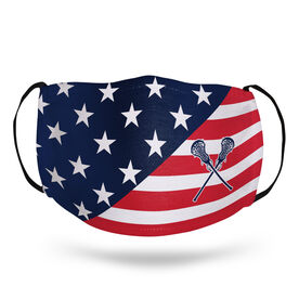 Girls Lacrosse Face Mask - USA Flag
